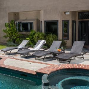 Anthony Wicker Chaise Lounger Set, Multibrown