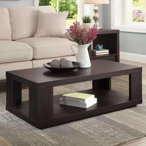 Better Homes & Gardens Steele Coffee Table with Spacious Lower Shelf, Espresso Finish
