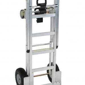 Cosco 3-in-1 Assist Series Aluminum Hand Truck/Assisted Hand Truck/Cart w/ flat free wheels, Silver