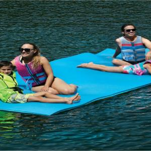 Floating Layer Oasis Water Pad 18 x 6 Water Sports Mat Float Island Utility Mats with Grommet