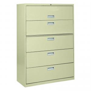 Sandusky Lee 800 Series 42″ 5-Drawer Full Pull Lateral File, Putty