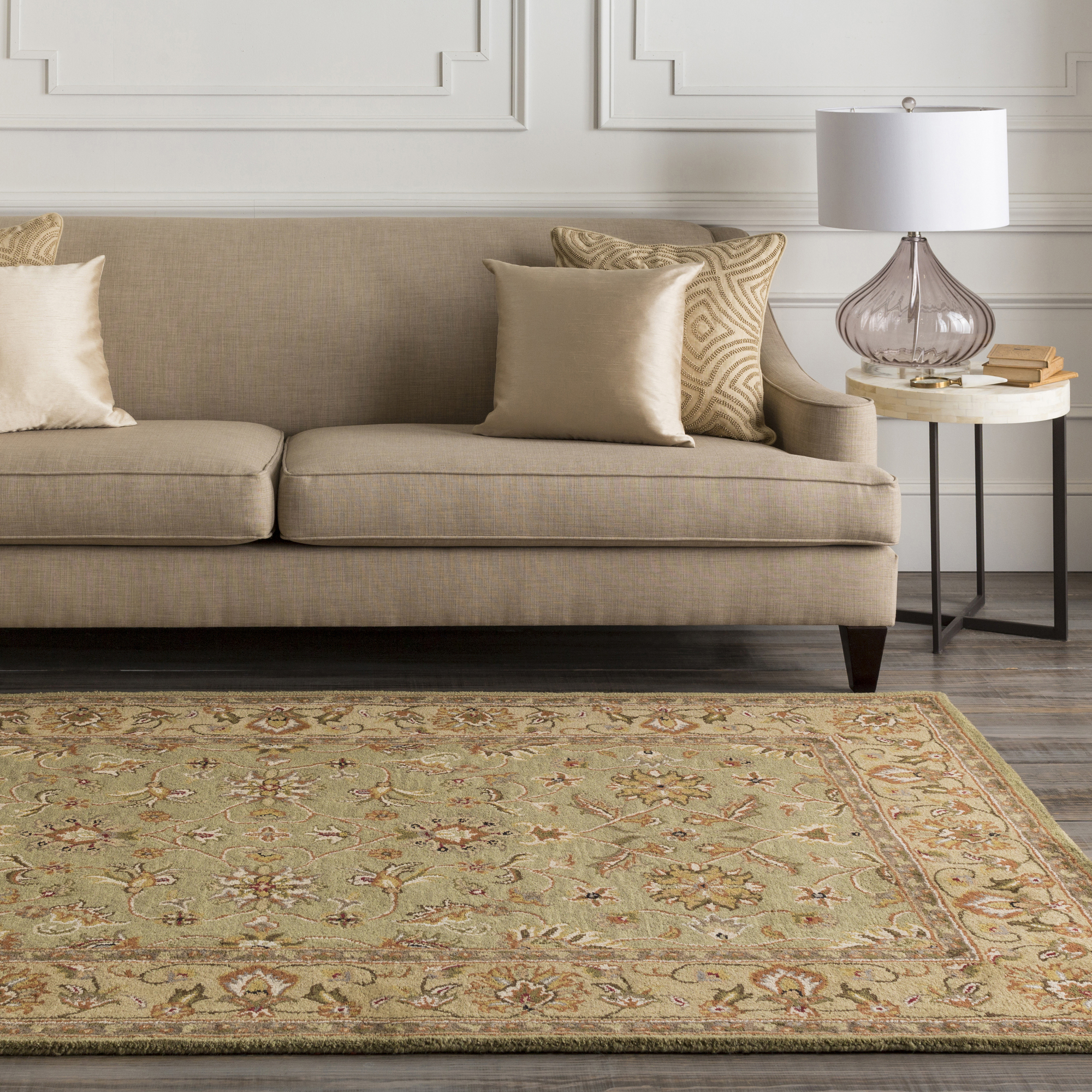 Art of Knot Aidley Green Traditional 9′ x 13′ Area Rug