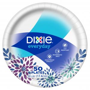 (3 pack) Dixie Everyday Paper Snack/Dessert Plates, 7″, 50 Count