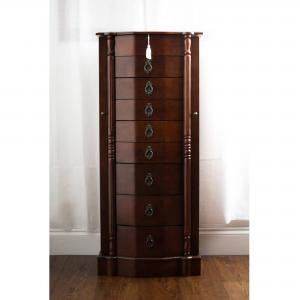 Hives & Honey Robyn Standing Jewelry Armoire – Walnut