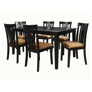 Lexington 7-Piece Large Dining Set with 6 Slat Back Chairs