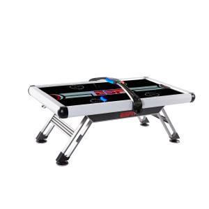 ESPN 84″ Air Powered Hockey Table with Overhead Electronic Scorer, White/Black