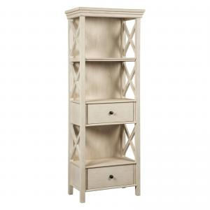 Signature Design By Ashley – Bolanburg Display Cabinet – Casual Style – Antique White