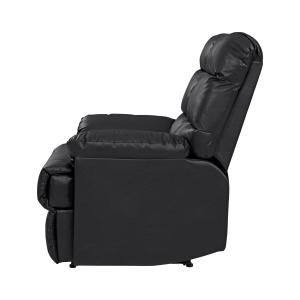 Homesvale Renu Leather Wall Hugger Recliner Chair, Black
