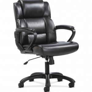 Sadie Mid-Back Executive Chair, with Fixed Padded Arms, in Black (HVST305)