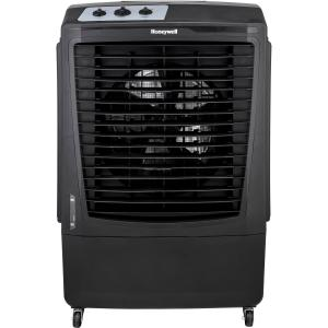 Honeywell 2100 CFM Outdoor Portable Evaporative Cooler & Fan with 36-Ft. Air Throw for Large Outdoor Spaces, Black