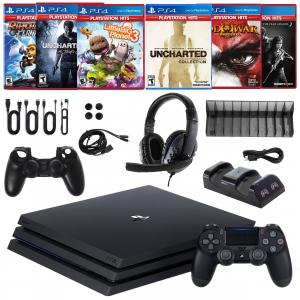 PS4 Pro 1TB Console with 6 Games and Accessories Kit
