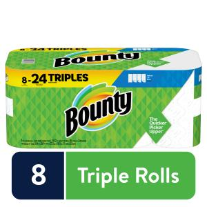 Bounty Select-A-Size Paper Towels, White, 8 Triple Rolls