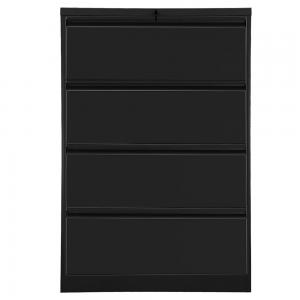 Multi-function Lateral File Cabinet with Lock, 4 Drawer (Black)
