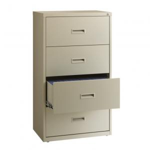 HL1000 Series 30-inch Wide 4-Drawer Lateral File Cabinet, Light Gray