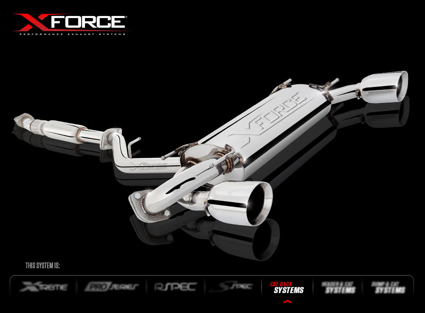 XForce ES-T86-02-CBS Stainless Steel 3″ High Flow Cat-Back Exhaust System for 2013+ Subaru BRZ , Scion FR-S, Toyota GT86