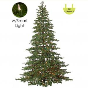 7.5′ Layered Pine Instant Power Technology Single Plug Christmas Tree – Clear Lights