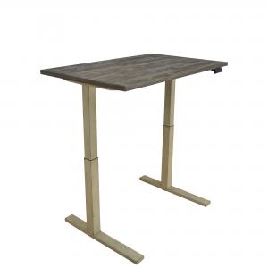 Myers Adjustable Height Standing Desk Weathered Pine and Antique Ivory