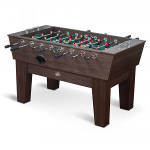 Classic Sport Alister Foosball Table – Brown – 61 in. x 35 in. – Official Competition Size Playing Field on Classic Dark Cabinetry