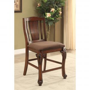 Furniture of America Norbert Padded Counter Dining Chairs – Set of 2, Brown