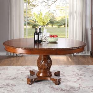 Acme Chateau De Ville Wooden Frame Dining Table in Cherry