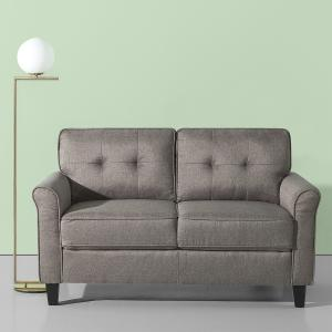 Zinus Sayan Loveseat, Sand Grey