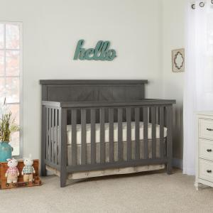 Slumber Baby Olive 4 in 1 Convertible Crib, Weathered Grey