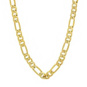 Jewelers 14K Solid Gold 5.6MM Figaro Chain Necklace BOXED