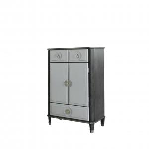 Beatrice Chest in Charcoal & Pearl White Finish