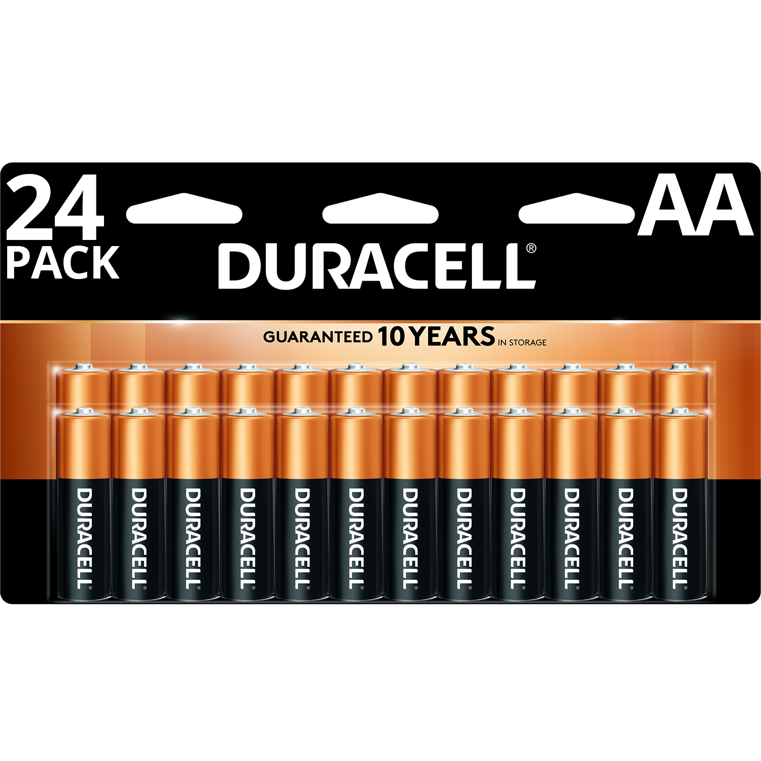 Duracell Coppertop AA Battery, Long Lasting Double A Batteries, 24 Pack
