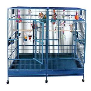 A and E Cage Co. Corner Wrought Iron Bird Cage-Black
