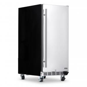 NewAir 15″ Built-in 90 Can Outdoor Rated Beverage Fridge with Auto-Closing Door and Easy Glide Casters – Stainless Steel