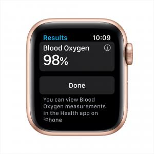 Apple Watch Series 6 GPS + Cellular, 40mm Gold Aluminum Case with Pink Sand Sport Band – Regular