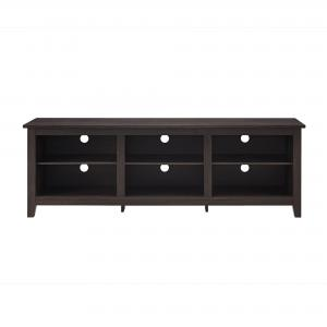 Manor Park Wood TV Media Storage Stand for TVs up to 78″, Espresso