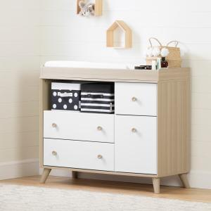South Shore Yodi Changing Table with Drawers, Multiple Finishes