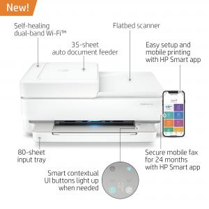 HP ENVY Pro 6452 Wireless All-in-One Color Inkjet Printer – Instant Ink Ready