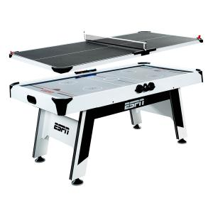 ESPN 72″ Air Hockey and Table Tennis Table, Combo Game Set, Accessories Included