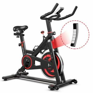 Black 30 lbs Home Gym Cardio Exercise Magnetic Cycling Bike