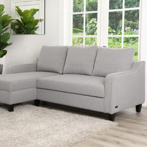 Devon and Claire Sienna Gray Convertible Sofa Bed