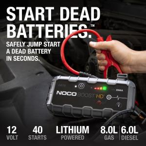 NOCO Boost HD GB70 2000 Amp 12-Volt UltraSafe Lithium Jump Starter For Up To 8-Liter Gasoline And 6-Liter Diesel Engines