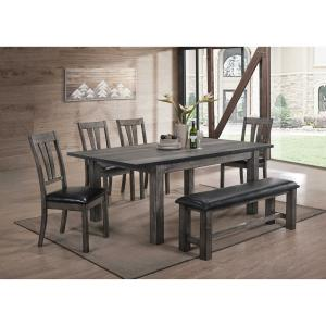 Cambridge Drexel Dining 6-Piece Set with Four Cushioned Chairs and Bench