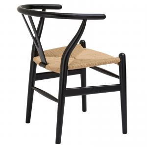 Poly & Bark Weave Chair in Black