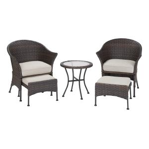 Mainstays Arlington Glen 5 Piece Outdoor Furniture Patio Leisure Set, Multiple Colors