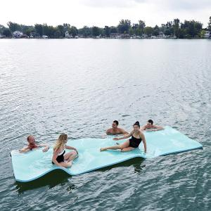 Floating Layer Oasis Water Pad 15 x 6 Water Sports Mat Float Island Utility Mats with Grommet