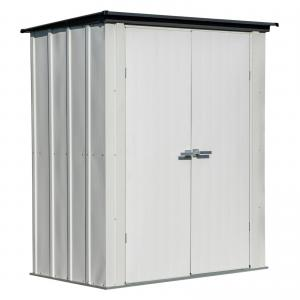 Spacemaker Patio Shed, 6 x 3 ft, Flute Grey/Anthracite, Outdoor Storage Shed