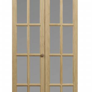 Pinecroft 726 Traditional Divided Frosted Glass 32″ x 80″ Bifold Door Unfinished