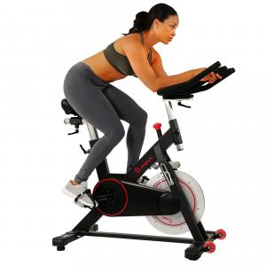 Sunny Health & Fitness Magnetic Belt Drive Indoor Cycling Bike with High Weight Capacity and Device Holder – SF-B1805