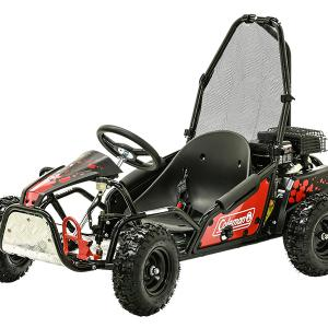 Coleman Powersports 100cc Gas Powered Go Kart – Red and Black