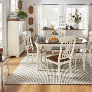 Weston Home Two Tone 5-Piece Dining Set, Antique White