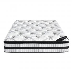 Hotel Style 12-Inch Plush Top Memory Foam and Individually Encased Spring Mattress