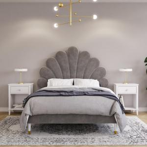 Little Seeds Monarch Hill Upholstered Poppy Bed, Multiple Colors and Sizes